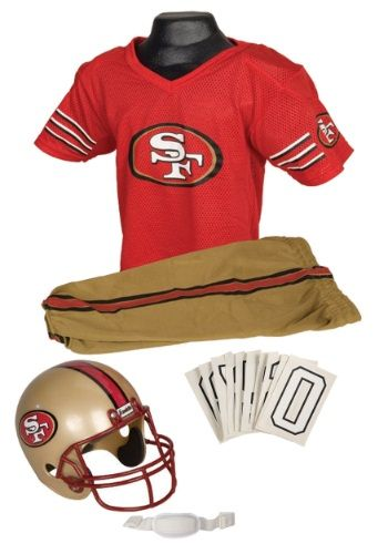 Get ready for the big game with our licensed NFL 49ers Uniform Costume for kids!