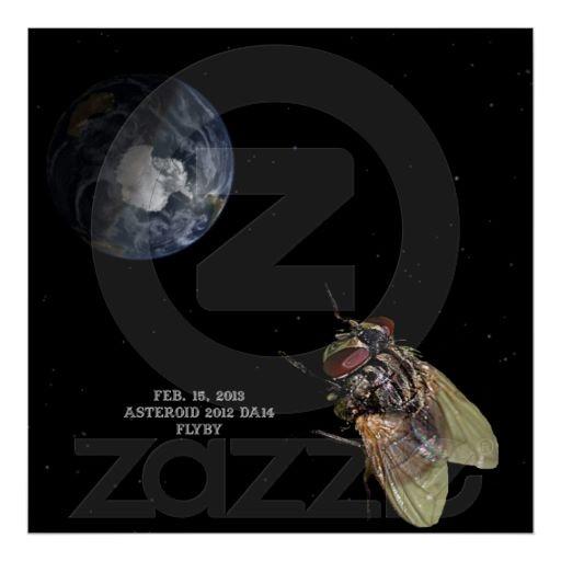 Feb. 15, 2013 Asteroid 2012 DA14 Flyby Poster