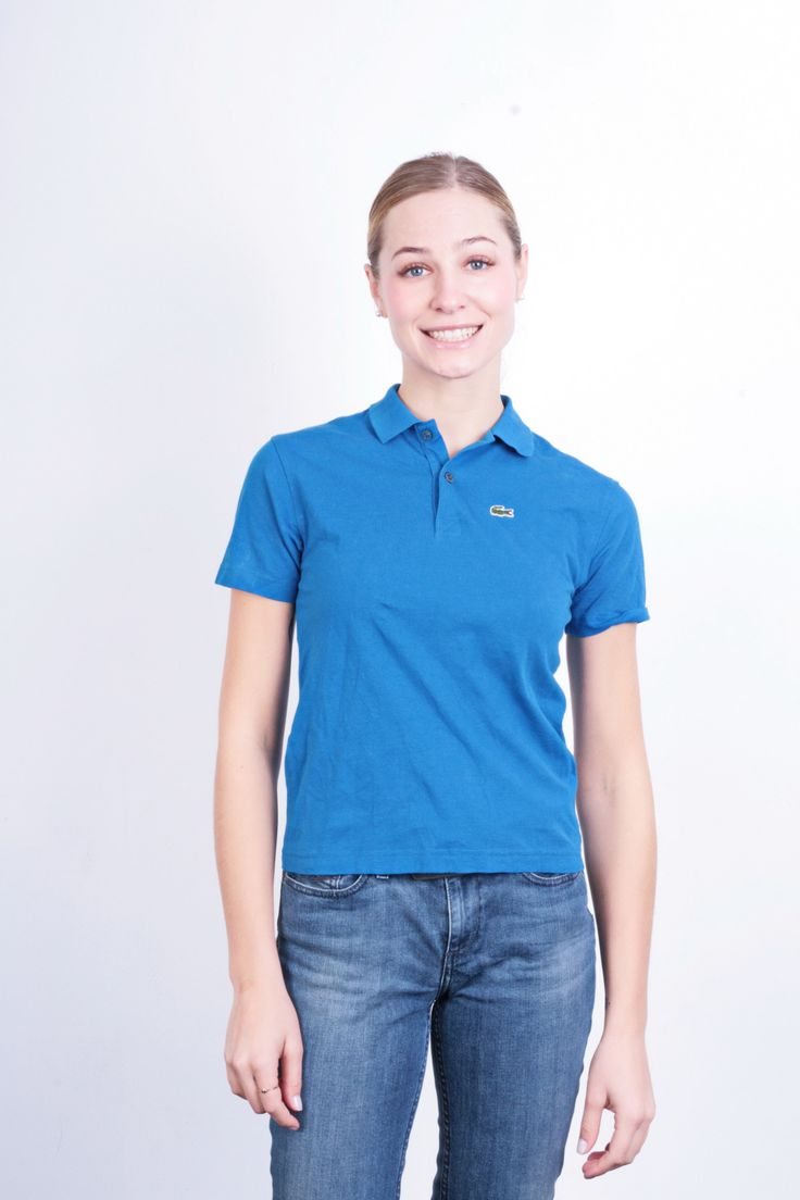 Lacoste Sport Womens S Polo Shirt Blue Cotton Sport