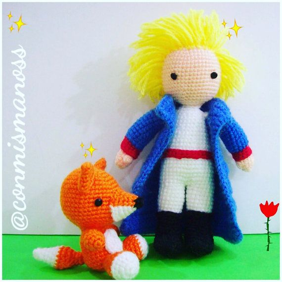 The Little Prince and The Fox, amigurumi pattern, PDF