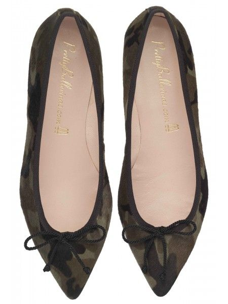 Camouflage pointed ballet shoes by pretty ballerinas - please please please