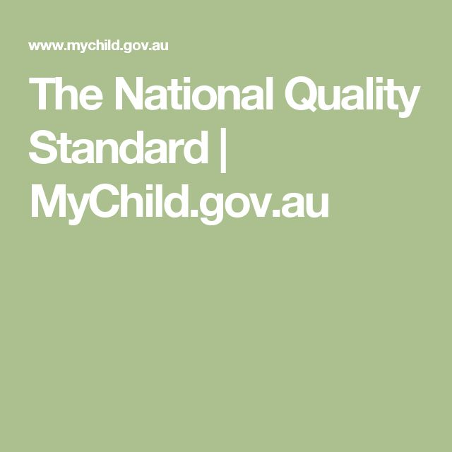 The National Quality Standard | MyChild.gov.au