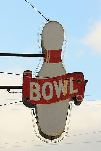 Bowling #vintage #sign