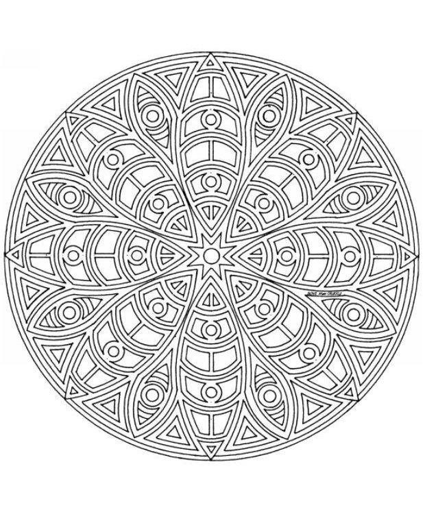 Мандала Исполнения Желаний | Mandala coloring pages ...