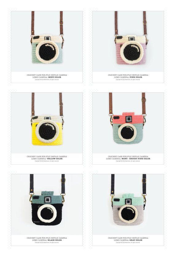 Crochet Case for Fuji Instax Camera Lomo Camera/ Mint by Meemanan
