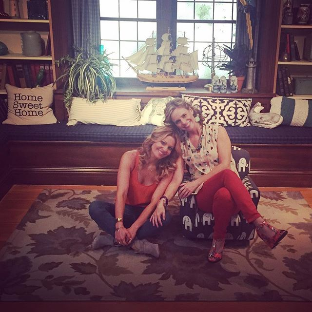 Candace Cameron Bure and Andrea Barber