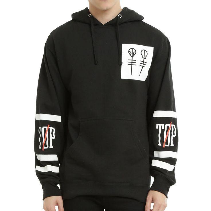 Dmart7deal Twenty One Pilots Big Logo Hooded Male Streetwear Hip Hop Long Hoodies Clothing Men Outerwear