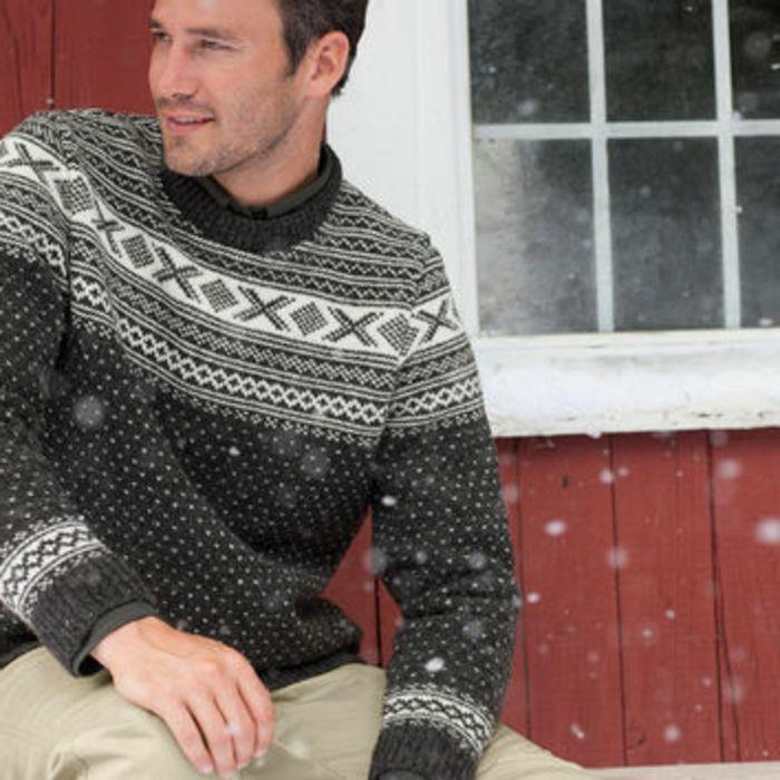 Norweger Pullover herren im schnee