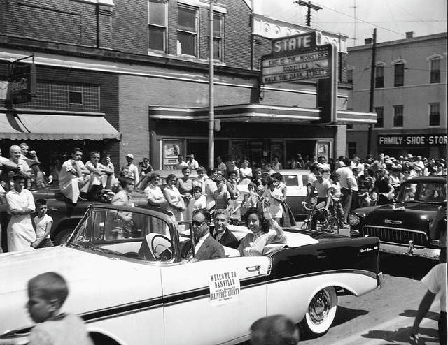 Danville held a parade to welcome Elizabeth Taylor and the rest of the Raintree County cast and crew when they came to town in 1956 to film parts of the Civil War epic. Photo Cora Young.
