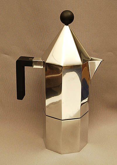 Espresso maker. Alessi. Aldo Rossi