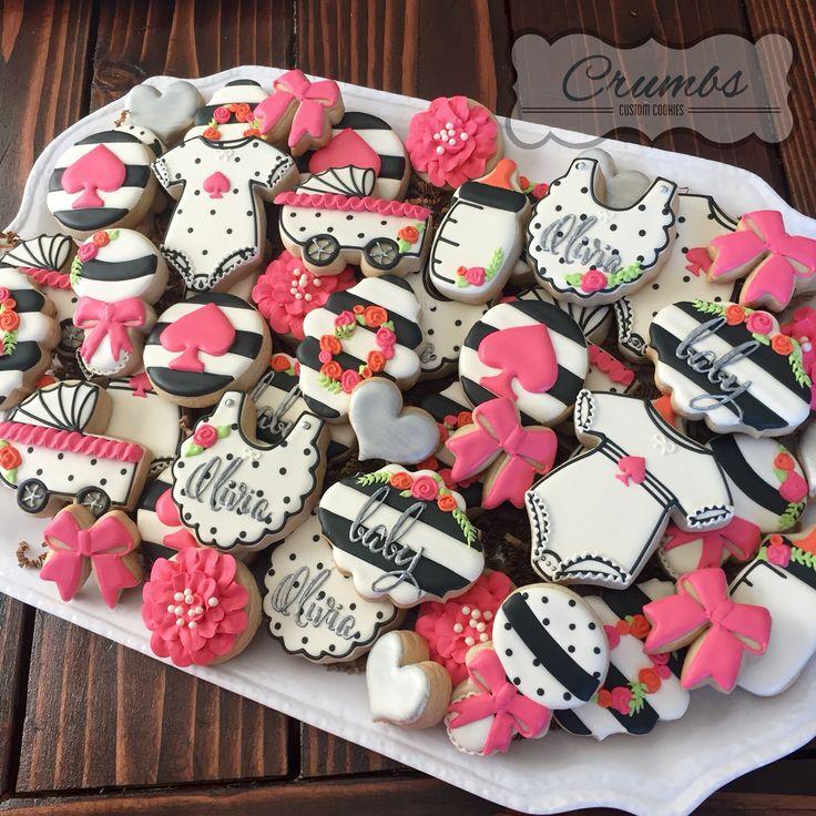 Kate Spade Baby Shower Cookies By Crumbs, @CrumbsCustomCookies On Instagram