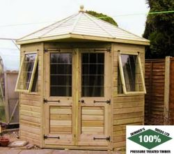 Corner Belvoir by Skinners Sheds 100% Pressure Treated | Free Delivery | Free Erection  www.skinners-sheds.com