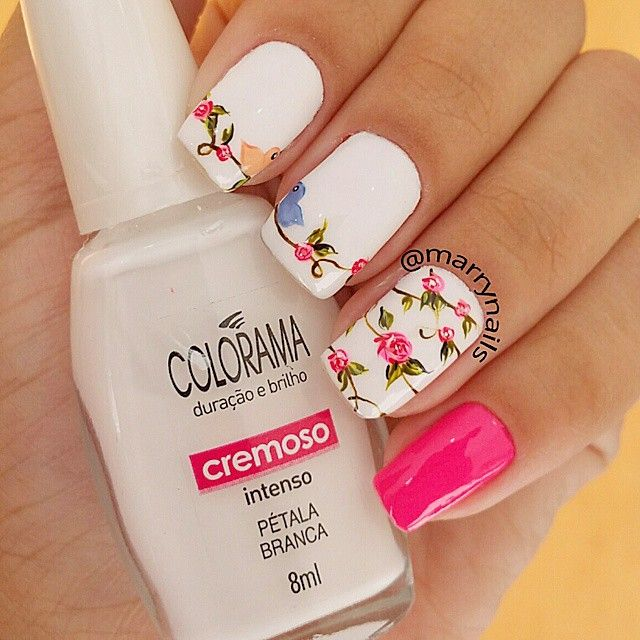 """Olá  lindinhas!! Preciso dizer que estou apaixonada por essas unhas aqui? Quem acha que merece uma curtida?"" Photo taken by @marrynails on Instagram, pinned via the InstaPin iOS App! http://www.instapinapp.com (06/13/2015)"