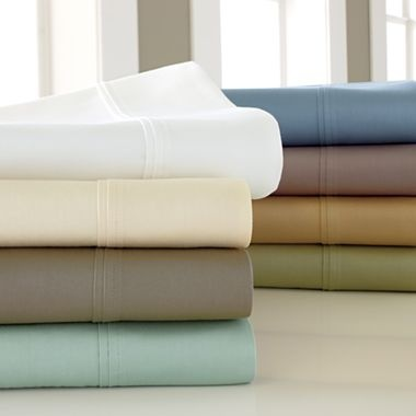 royal velvet pure perfection 325tc egyptian cotton sheet set jcpenney - Royal Velvet Sheets