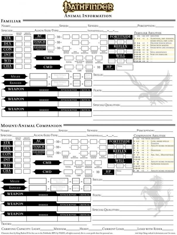 graphic relating to Pathfinder Character Sheet Printable referred to as Pathfinder Printable Persona Sheet template inside 2019
