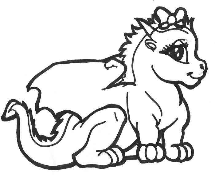 chinese dragon illustration in cartoon coloring page free printable coloring pages for kids - Baby Chinese Dragon Coloring Pages