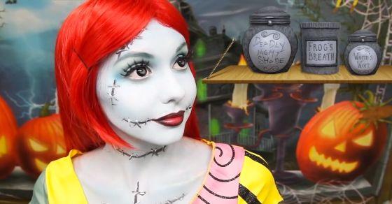Creating Sally makeup tutorial