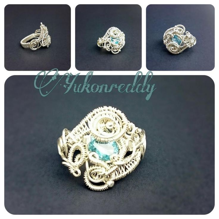 Silver aquamarine ring - Jewelry creation by Becca Ross