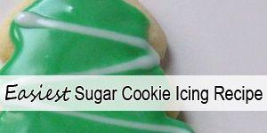 Easiest and Best Sugar Cookie Icing Recipe