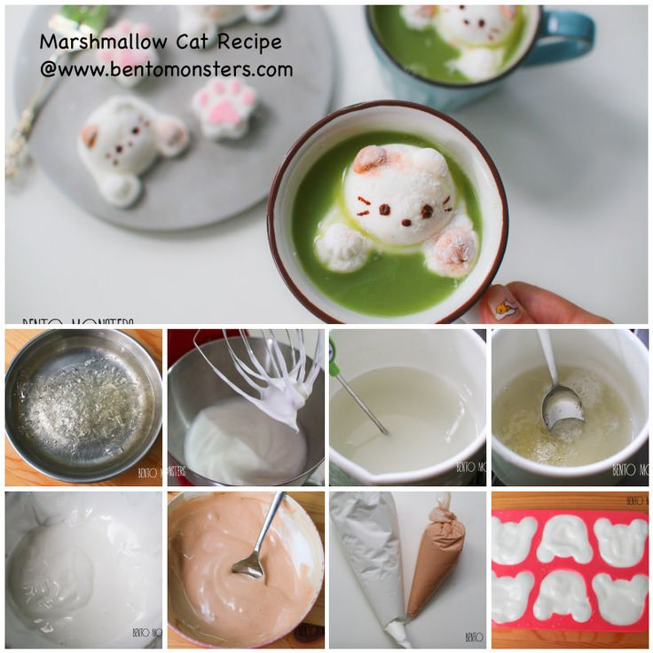 marshmallow cat for coffee diy