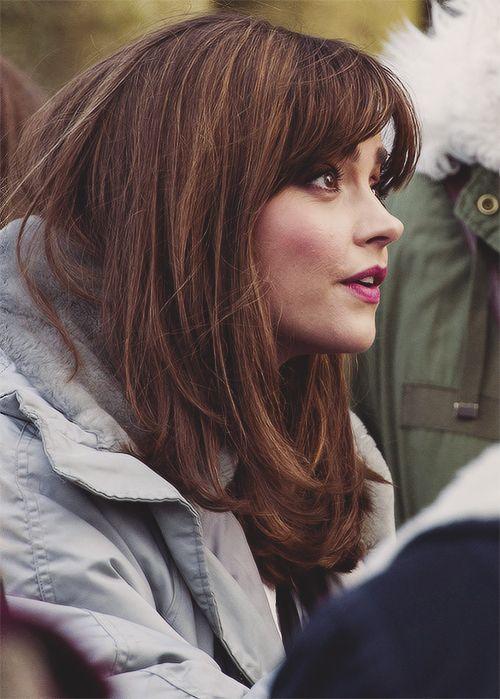 Jenna Coleman on set March 18th