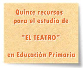 """Quince recursos para el estudio de """"EL TEATRO"""" en Educación Primaria"""
