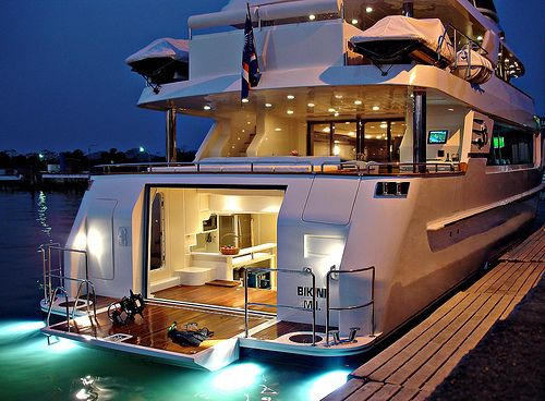 Every girl needs to relax on a yacht once in awhile