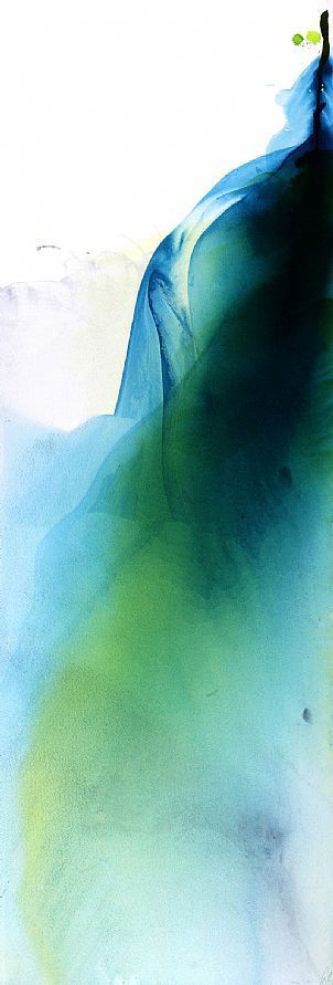 ebb series 13:the sound of the water watercolour on paper 2011