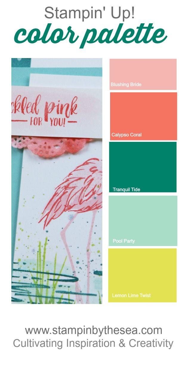 Friends and Flamingos - StampinByTheSea.com