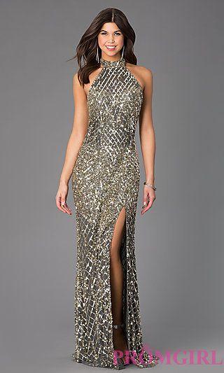 Open Back High Neck Dress by Primavera at PromGirl.com