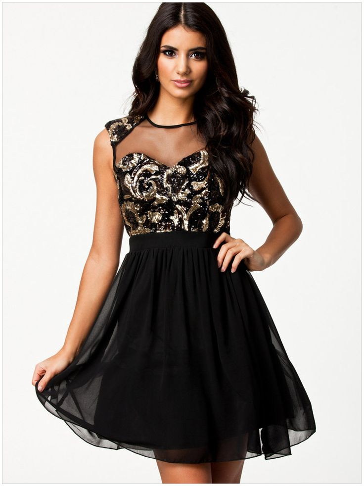 Women Fashion Sequins Mesh Patchwork Ball Gown Short Sleeveless Voile Dress Office Club Elegant Party Evening 2014 Summer New-in Dresses fro...