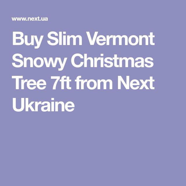 Buy Slim Vermont Snowy Christmas Tree 7ft from Next Ukraine
