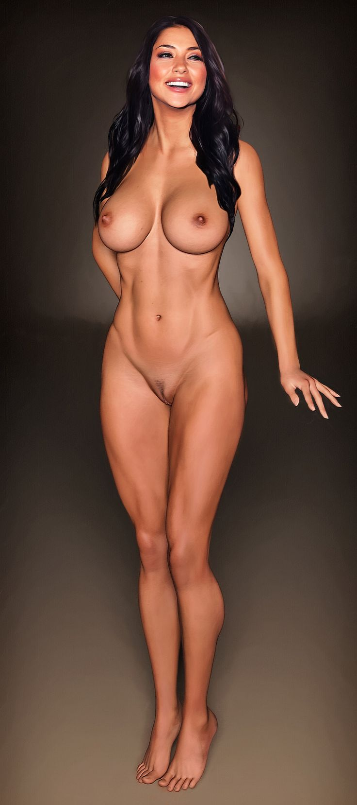 girl nude posing on mini