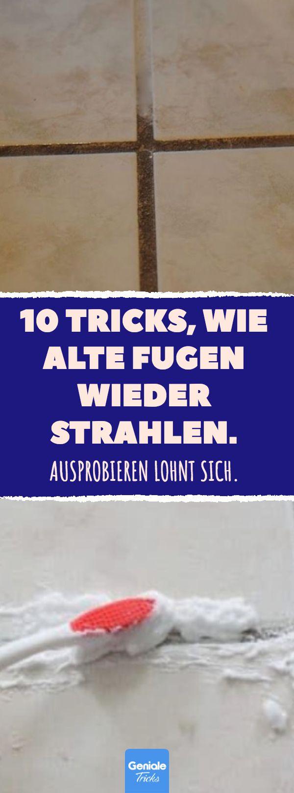 10 Tricks, wie alte Fugen wieder strahlen. #bad #f…