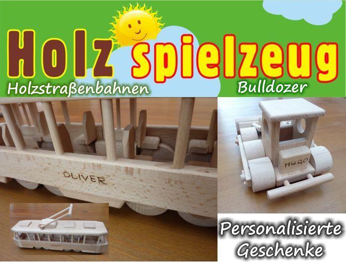 Straßenbahn Holzspielzeug für Kinder mit text Gravur