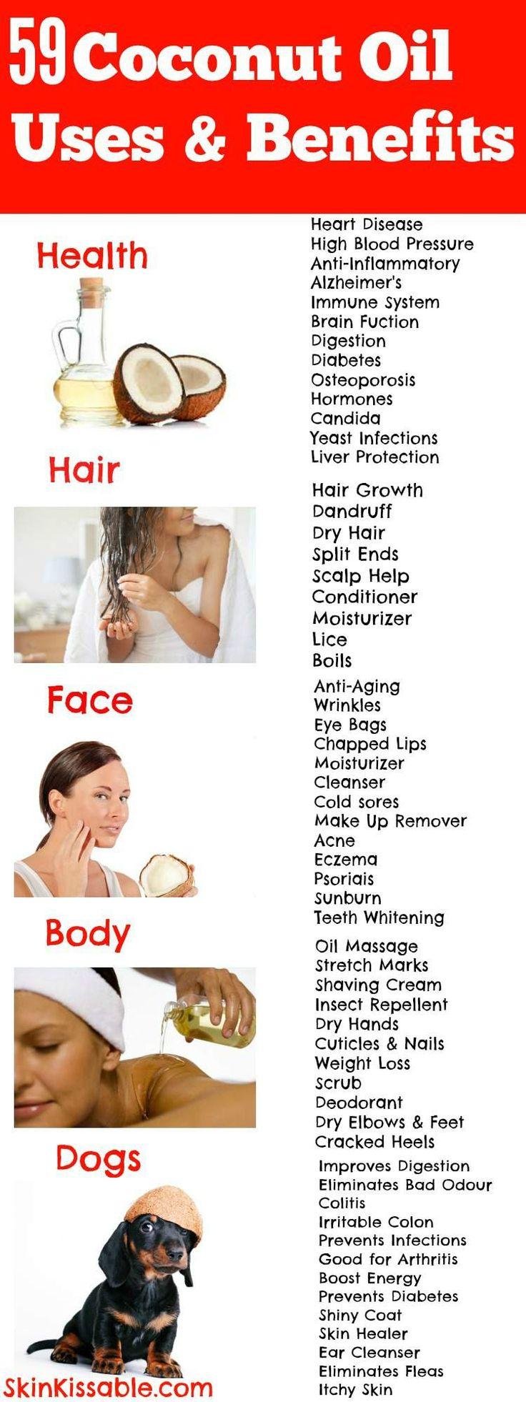 Verwendung von Kokosnuss für die Haut