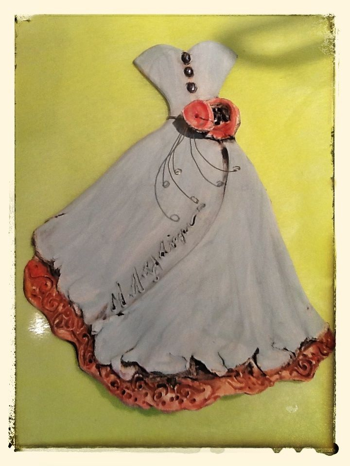 Ceramic dress by M. Lalaouni at Kivotos gallery Cyprus