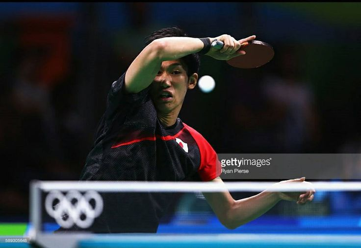Maharu Yoshimora of Japon plays a forehand during the table tennis Men's team round one match between Japon and Poland during day 8 of the Rio 2016 olympic games. #rio #rio2016 #tabletennis #japon #poland #olympics2016  Photo by:Ryan pierseGetty images