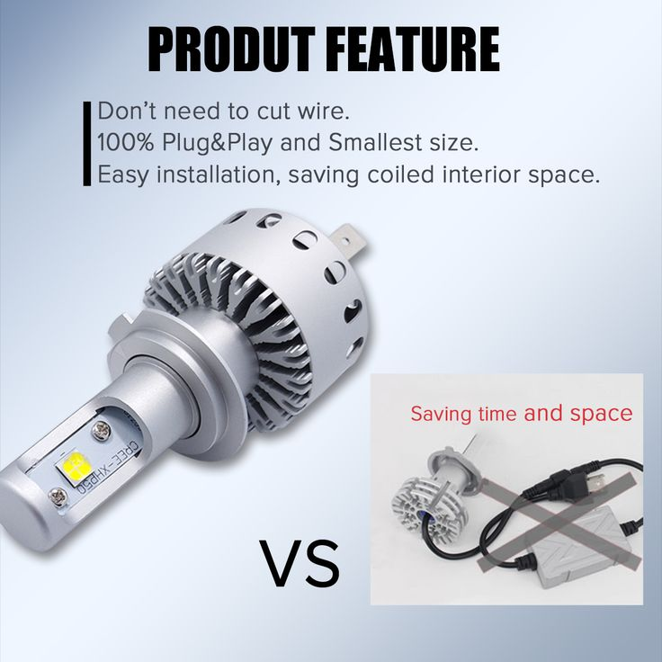 Autoleader 7S Integrated Car LED Headlight XHP-50 40W 6500K 8000LM IP67 H4 H7 H11 9005 9006 LED Bulb for Auto
