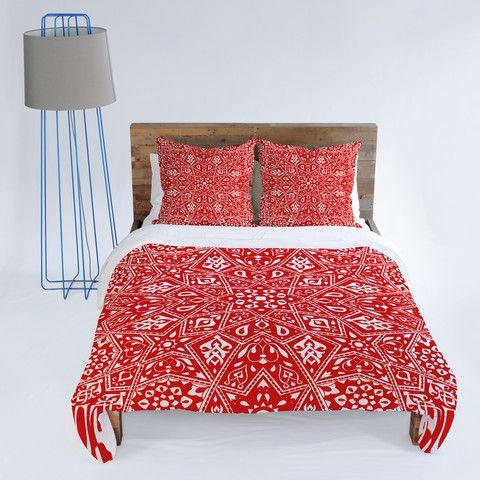 Aimee St Hill Amirah Red Duvet Cover