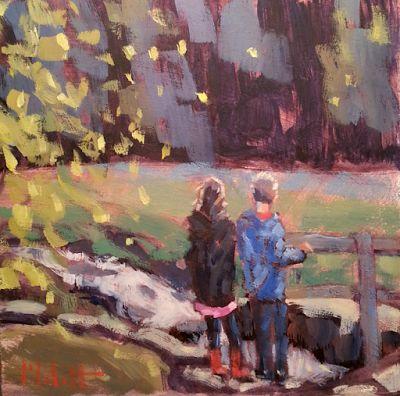 Heidi Malott Original Paintings: Autumn in the Park Children at the Natural Springs...