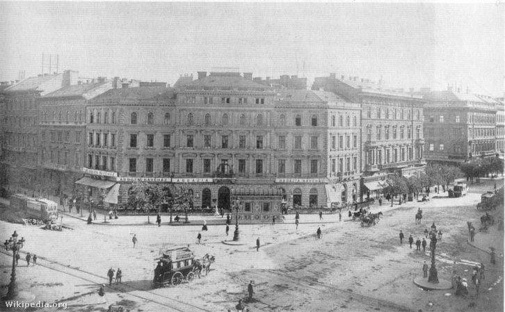 Az Abbazia kávéház 1900 körül az Oktogonon