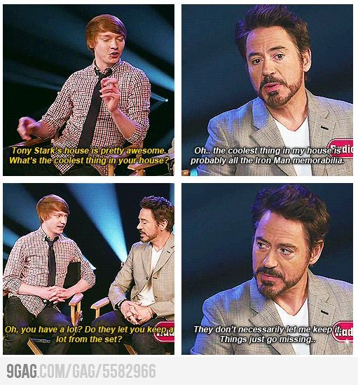 I find it amazing how RDJ seems so much like Tony Stark. I can totally see him doing this.