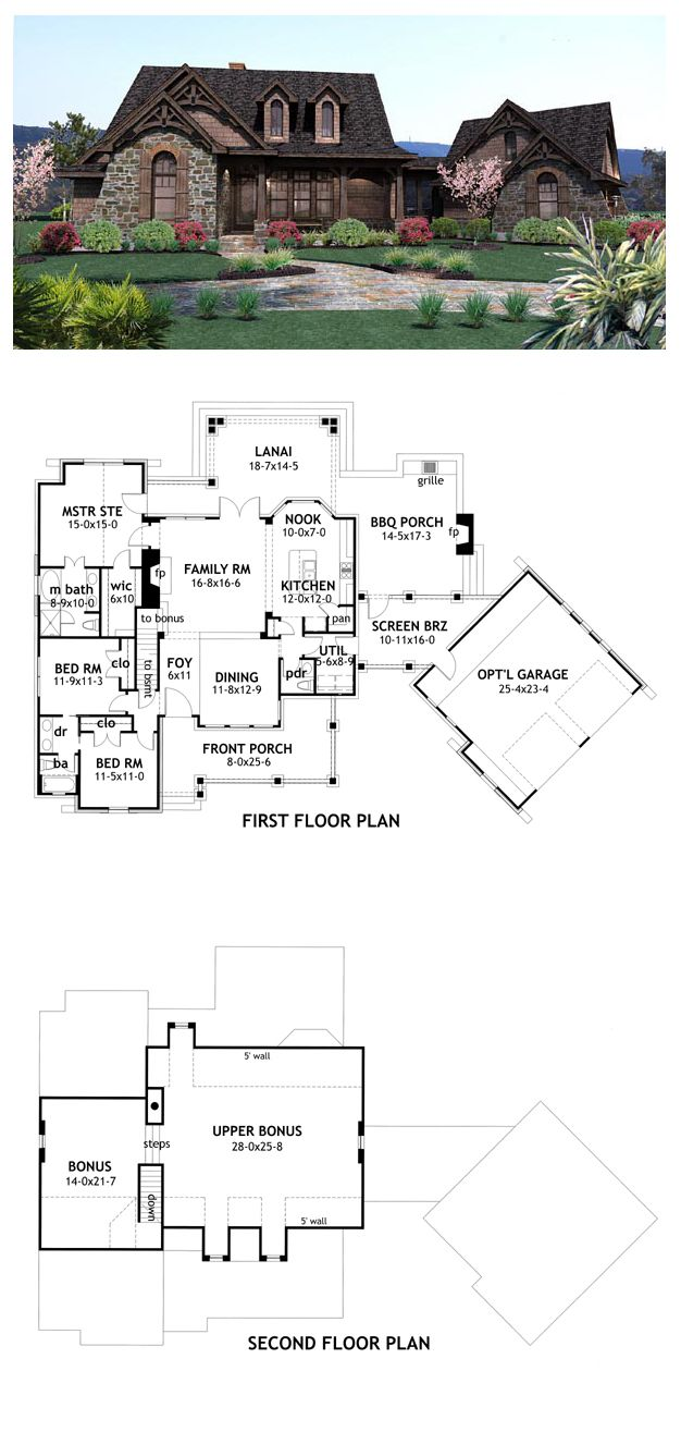 Craftsman House Plan 65866 | Total living area: 1698 sq ft, 3 bedrooms 2.5 bathrooms. #houseplan #craftsman
