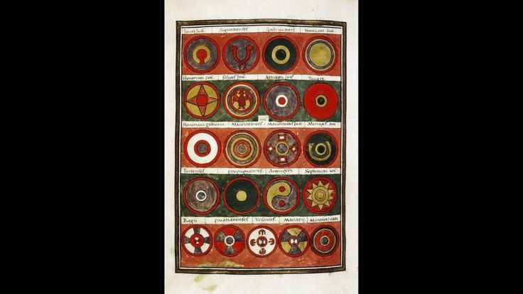 The yin and yang symbol was found on roman shield patterns  Those shields predate the earliest Taoist versions of the yin and yang by almost seven hundred years  #art #history #images #pattern #patterns #roman #shield #shields #symbol #versions #yang #years #yin #yin and yang