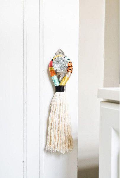 DIY Door Handle Tassels - DIY Stocking Stuffers Your Family Members Will Actually Like - Photos