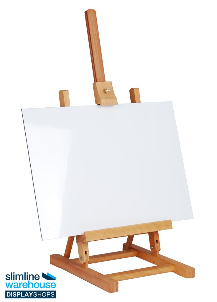 Art Easel - Table top easel has adjustable viewing angle that allows items to easily be seen!