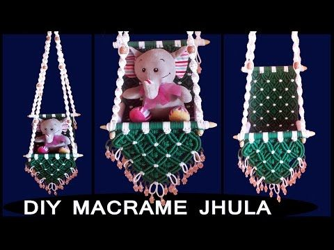 DIY simple Macrame Jhula tutorial Design-3 | Macrame Art -| easy and simple macrame tutorial - YouTube