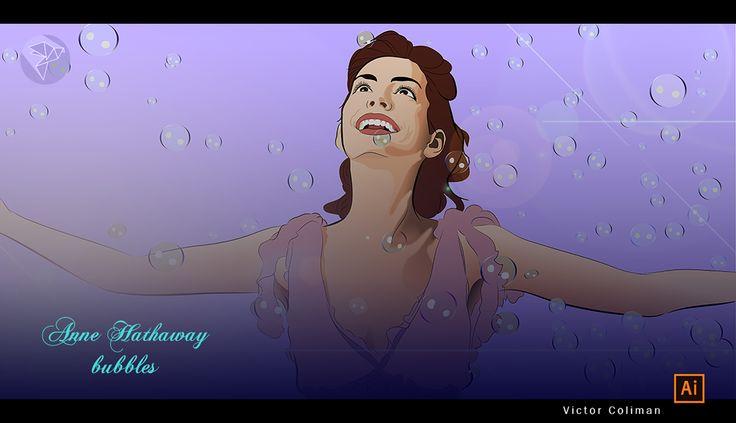 Anne Hataway, ilustracion vectorial