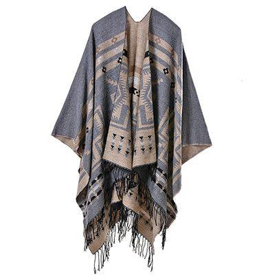 Fashion winter scarves vintage Bohemia tassel double-side Scarf Shawls Women stole Cashmere Pashmina poncho Bandana warps femme